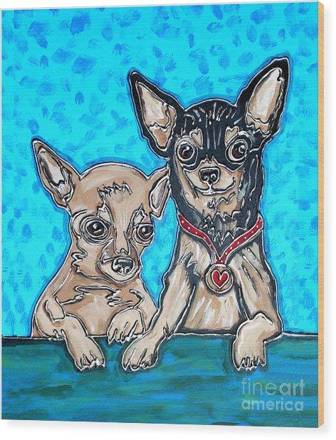 Chihuahua Duo Wood Print