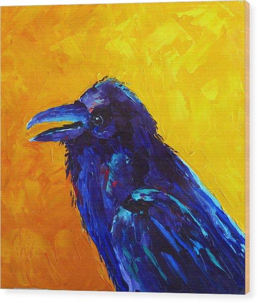 Chihuahuan Raven Wood Print