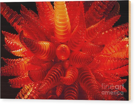 Chihuly Glass 2 Wood Print