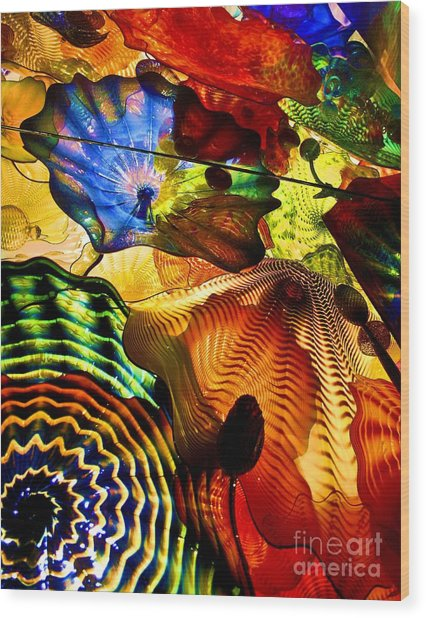 Chihuly Persian Ceiling Wood Print