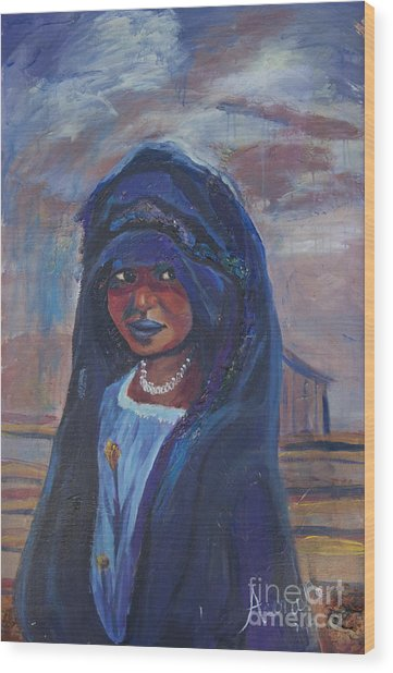 Child Bride Of The Sahara Wood Print