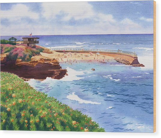 Children's Pool In La Jolla Wood Print