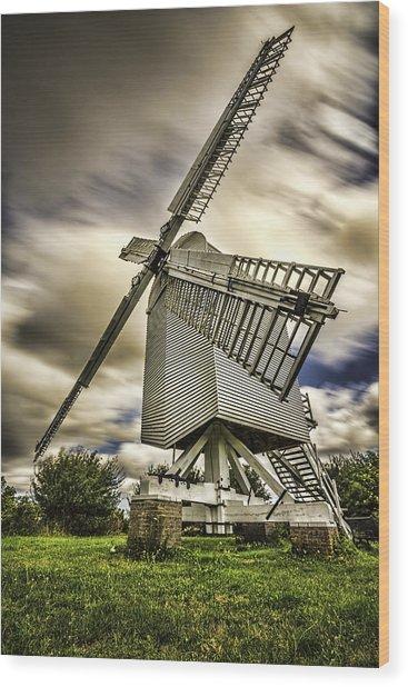 Chillenden Windmill Kent Wood Print