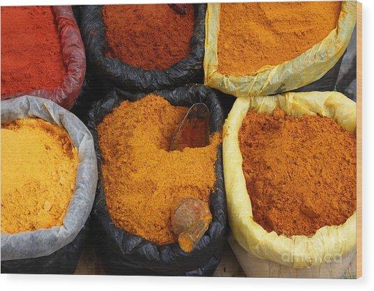 Chilli Powders 1 Wood Print