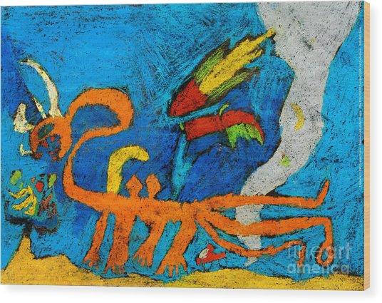 Chimera Wood Print
