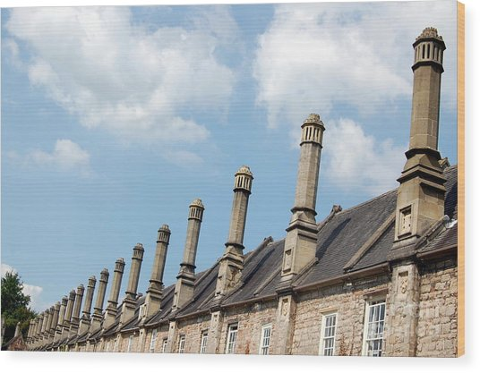 Chimney Stacks At The Ready Wood Print