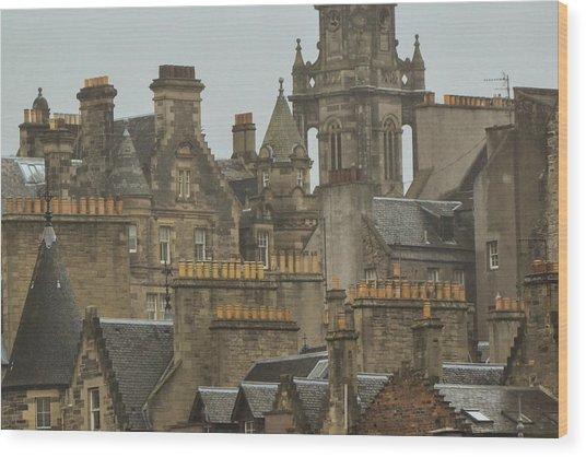 Chimney Pots Of Edinburgh Wood Print