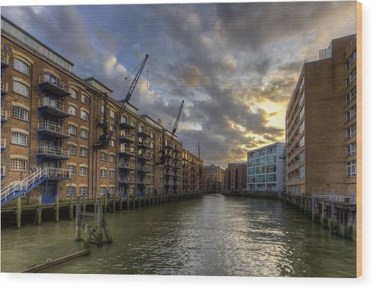 China Wharf Wood Print