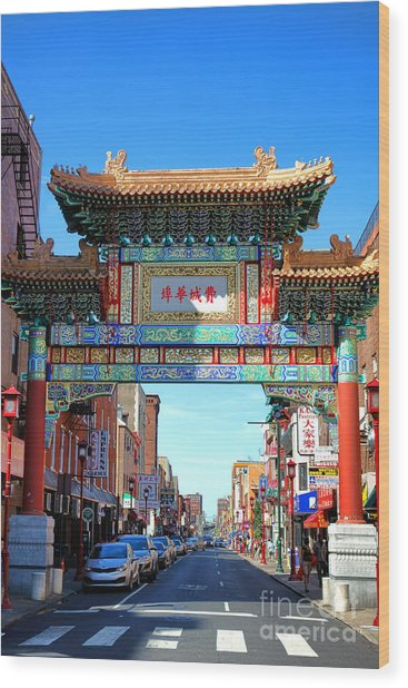 Chinatown Friendship Gate Wood Print