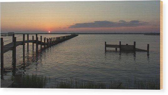 Chincoteague Island Sunset Wood Print
