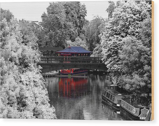 Chinese Architecture In Regent's Park Wood Print
