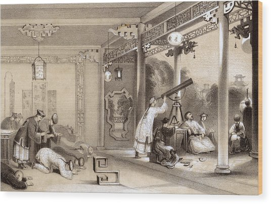 Chinese Ceremonies Performed  When An Wood Print by Mary Evans Picture Library