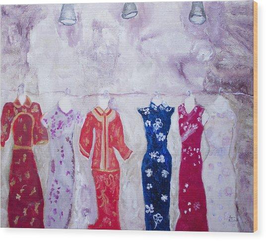 Chinese Dresses Wood Print