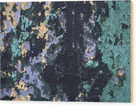 Chipped Paint Wood Print by Gretchen Lally