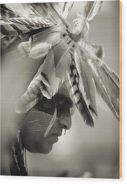 Chippewa Indian Dancer Wood Print by Dick Wood
