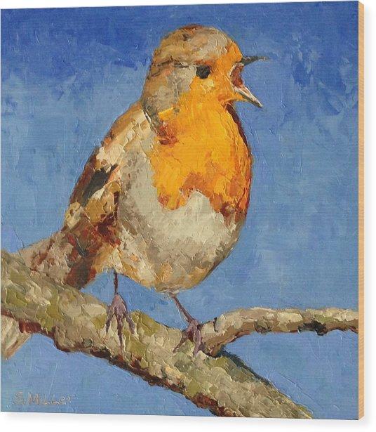 Chirp Wood Print
