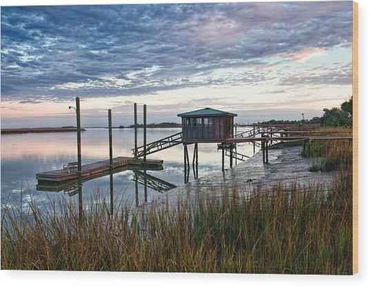 Chisolm Island Docks Wood Print