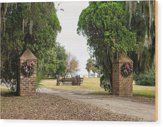 Chisolm Island Gates Wood Print