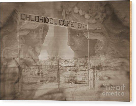 Chloride Cemetery Wood Print