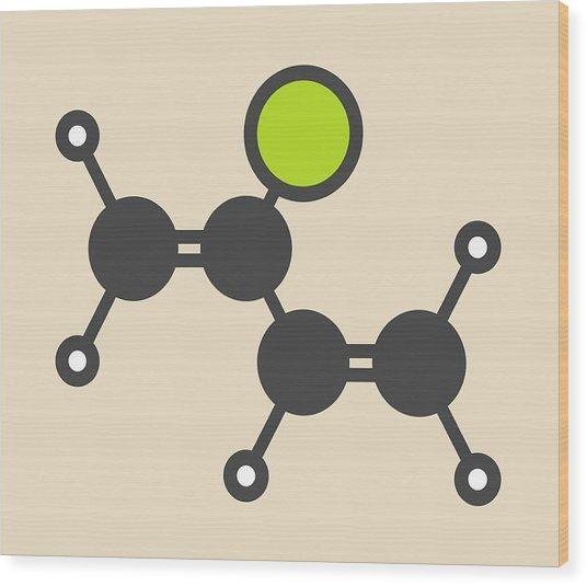 Chloroprene Molecule Wood Print