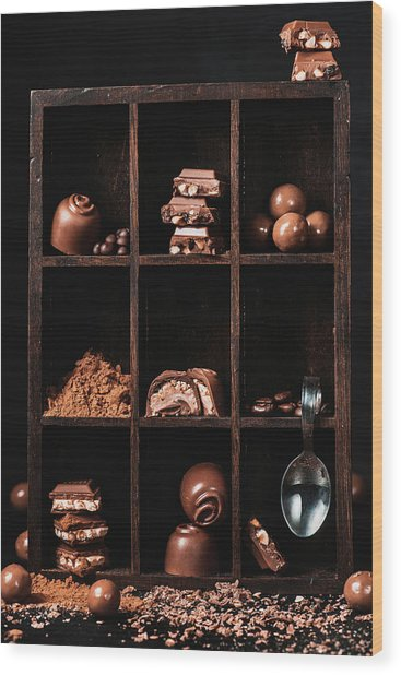 Chocolate Collection Wood Print