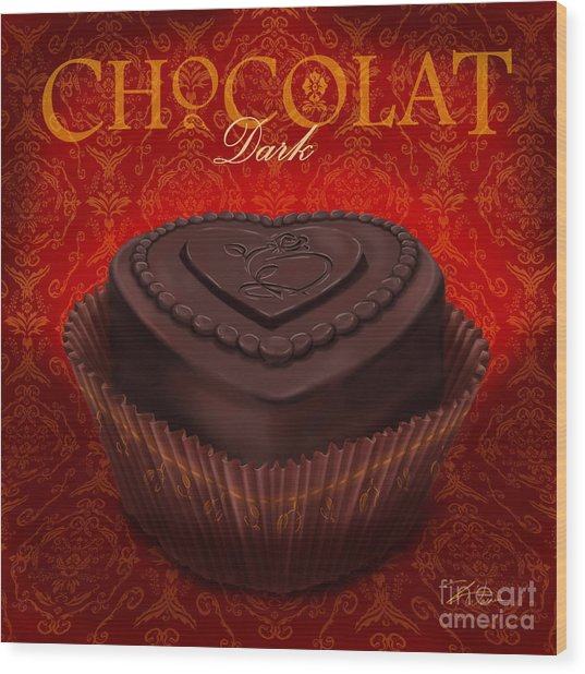 Chocolate Dark Wood Print