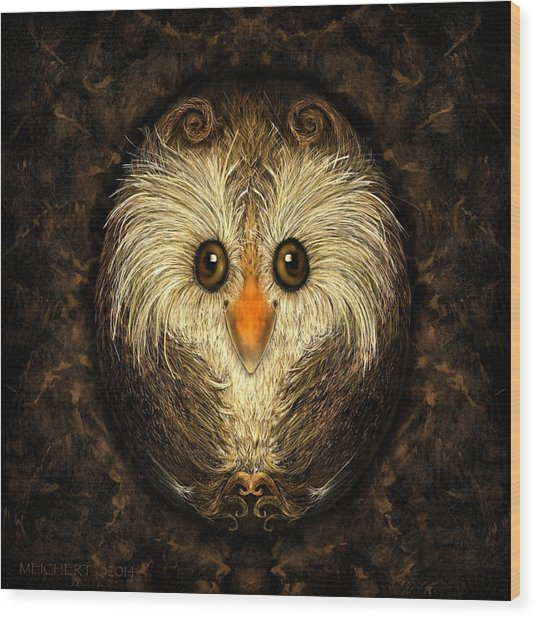 Chocolate Nested Easter Owl Wood Print