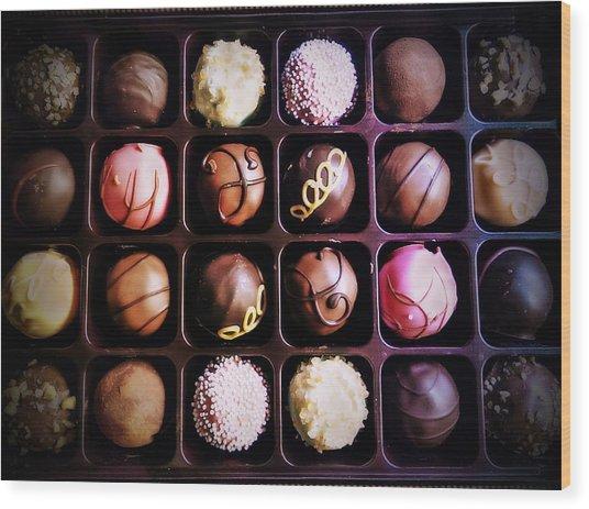 Chocolate Really Is Art Wood Print by Denisse Del Mar Guevara