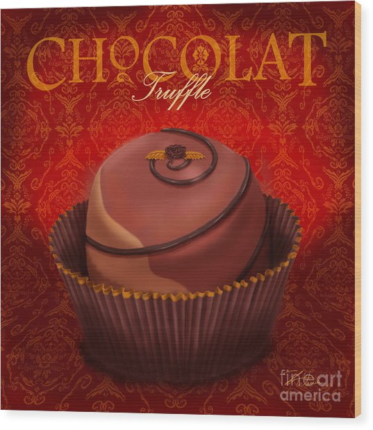 Chocolate Truffle Wood Print