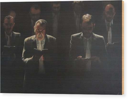 Choir Self Portrait Wood Print by Clive Holden
