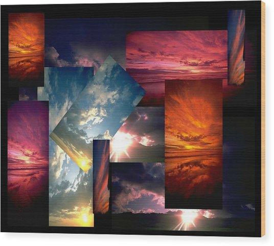Choose Your Own Sunrise Wood Print by Darryl  Kravitz
