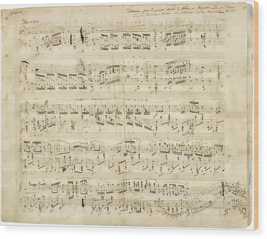Chopin Polonaise Op 53 Wood Print