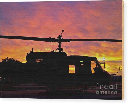 Chopper Down - No.0563 Wood Print