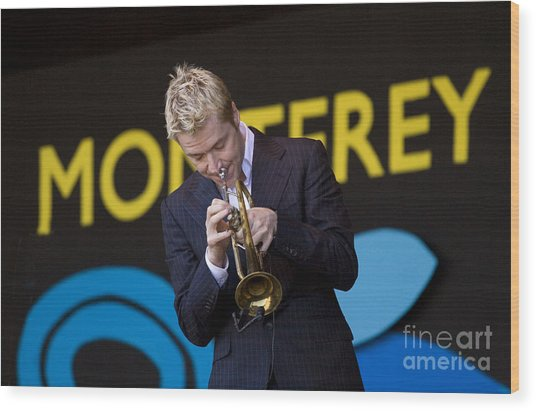 Chris Botti Plays Trumpet Wood Print