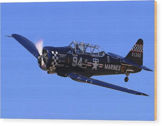 Chris Lefave In His North American Snj-4 Midnight Express At Reno Air Races  Wood Print by John King