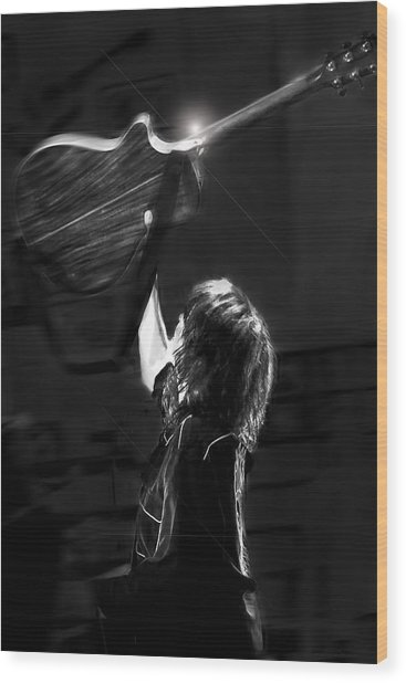 Chrissie Hynde Encore By Denise Dube Wood Print