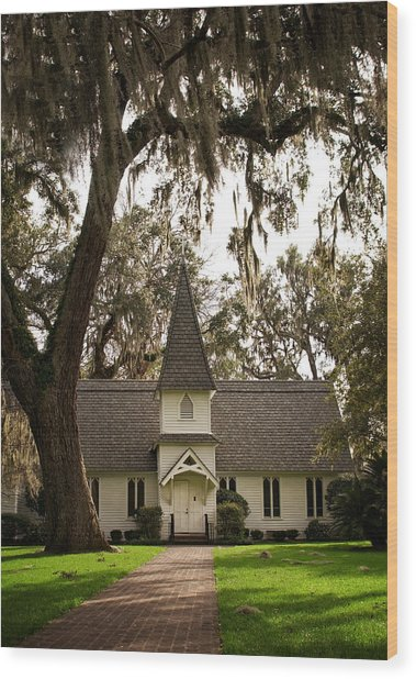 Christ Church On St. Simons Island Georgia Wood Print