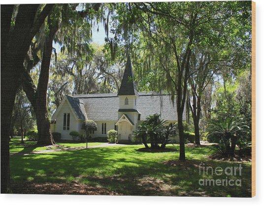 Christ Church St. Simmons Wood Print
