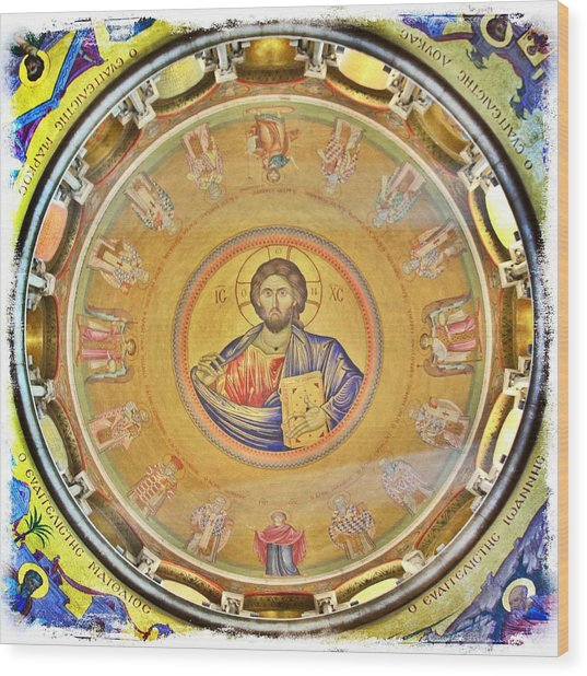 Christ Pantocrator -- Church Of The Holy Sepulchre Wood Print