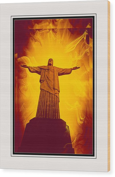 Christ The Redeemer Ver - 3 Wood Print