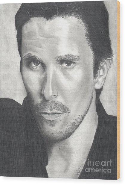 Christian Bale Wood Print