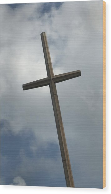 Christian Cross Wood Print