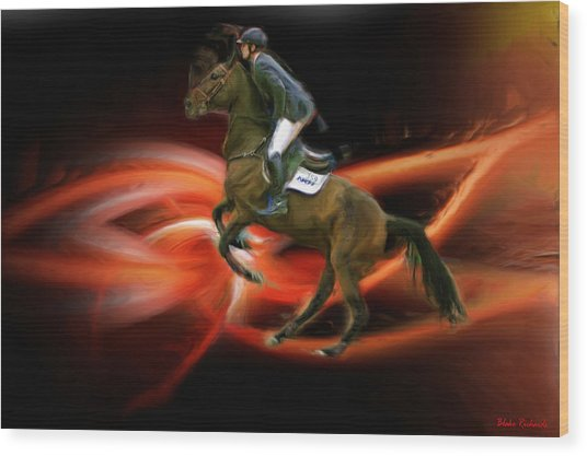 Christian Heineking On Horse Nkr Selena Wood Print