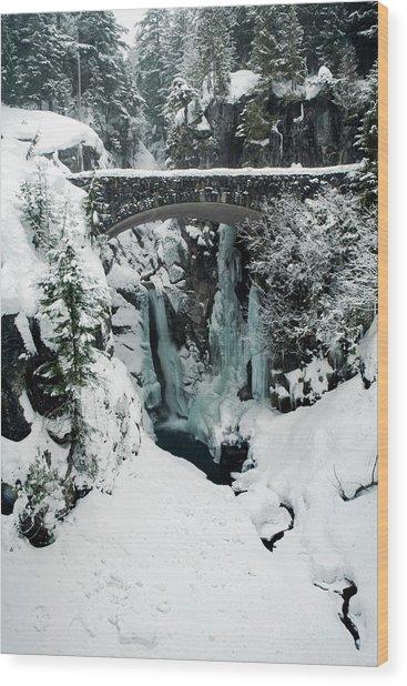 Christine Falls, Mount Rainier National Wood Print