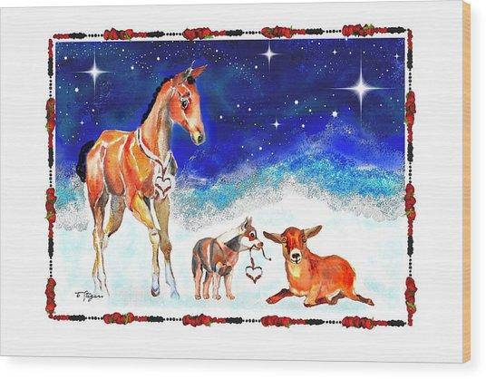 Christmas 4 Wood Print