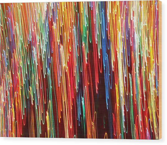 A Rainbow Melting  Wood Print
