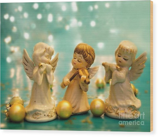 Christmas Angels 3 Wood Print