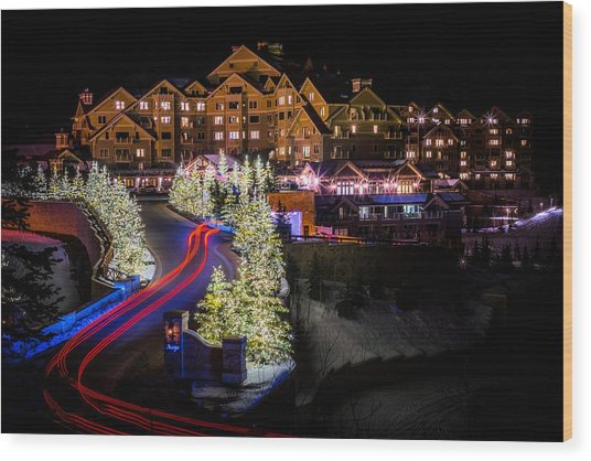 Christmas At The Montage Wood Print