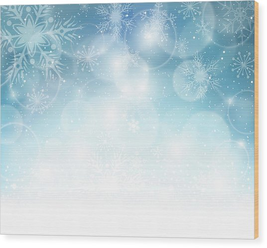 Christmas Background Wood Print by Adyna