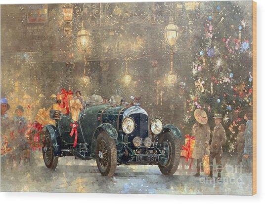 Christmas Bentley Wood Print
